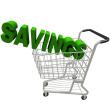 stock-photo-11504046-savings-in-a-shopping-cart
