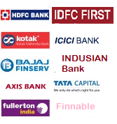 Loan from Standard Chaterd, HDFC, CITY Bank, Fullerton, Kotak